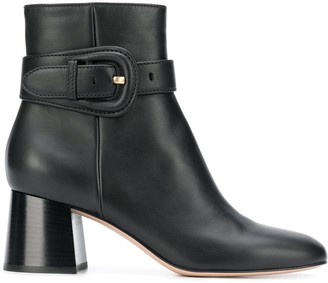 Gianvito Rossi Buckled Strap Ankle Boots