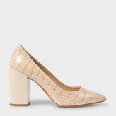 Paul Smith Women's Taupe Mock Croc Leather 'Lin' Shoes