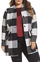 Junarose Plus Size Women's Check Jacket
