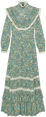 Gucci Liberty floral crepe maxi dress