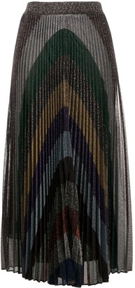 Missoni Pleated Metallic Skirt