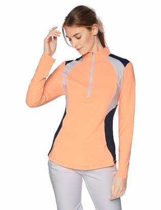 Cutter & Buck Annika Women's Moisture Wicking UPF 50+ Drytec Long Sleeve Half Zip Shirt
