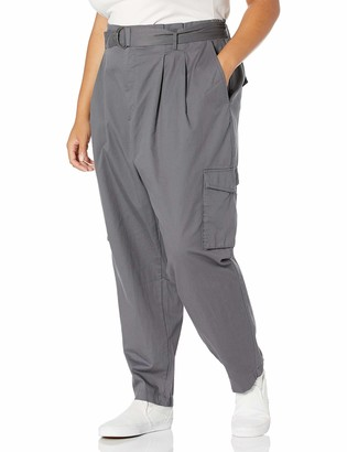 Forever 21 Women's Plus Size Belted Cargo Pants