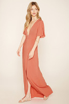 Forever 21 Contemporary Belted Maxi Dress