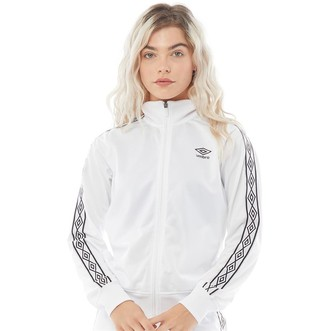 Umbro Womens Active Style Taped Track Jacket White