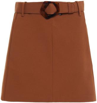 Nicholas Belted Twill Mini Skirt