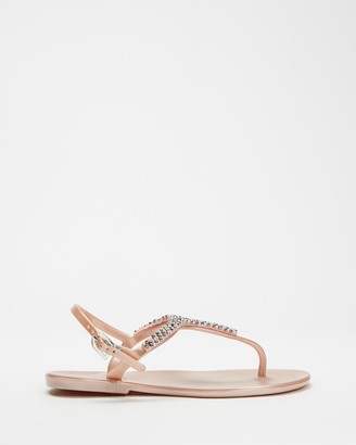 Holster Women's Pink Flat Sandals - Juliet - Size One Size, 11 at The Iconic