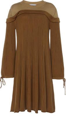 Tuinch Silk-Cashmere Mixed-Knit Trapeze Dress