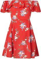 Miss Selfridge Petite Bardot Printed Dress