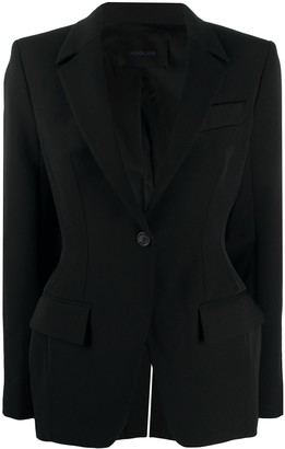 Thierry Mugler Tailored Scuba Blazer