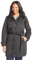 MICHAEL Michael Kors Plus Size Women's Single Breasted Raincoat