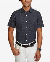 Nautica Men's Big & Tall Classic-Fit Check Short-Sleeve Shirt