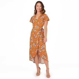 Apt. 9 Petite Flutter Sleeve Faux-Wrap Dress