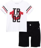 True Religion Tee & Short Set (Toddler Boys)