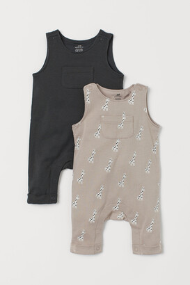 H&M 2-pack Sleeveless Rompers