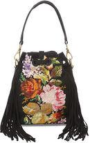 Ralph Lauren Needlepoint Drawstring Bag