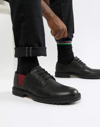 Paul Smith Artie elasticated detail shoes in black