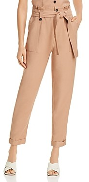Aqua Paperbag-Waist Straight-Leg Pants - 100% Exclusive