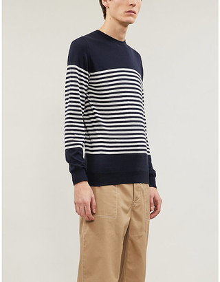 John Smedley Palter striped cotton-knit jumper