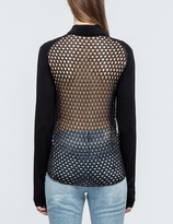 McQ by Alexander McQueen Crochet Back Zipped Cardigan