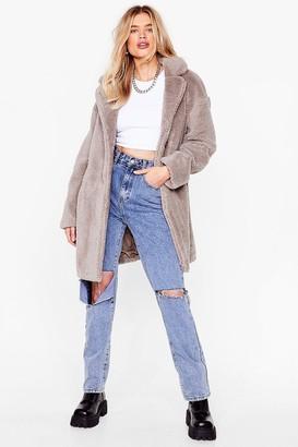 Nasty Gal Womens Fur-get Me Not Faux Fur Coat - Grey