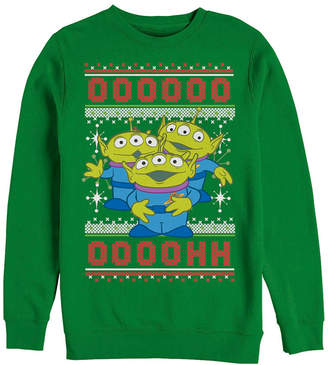 Disney Pixar Men Toy Story Aliens Ugly Christmas Sweater, Crewneck Fleece