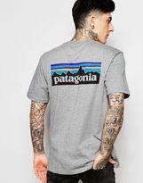 Patagonia T-shirt With P6 Logo Regular Fit - Grey