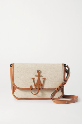 J.W.Anderson Braided Midi Anchor Leather-trimmed Canvas Shoulder Bag