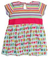 Zutano Owls Banded Waist Cap Sleeve Dress in Multicolor