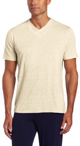 American Essentials Men's Knit Double Layer V-Neck T-Shirt