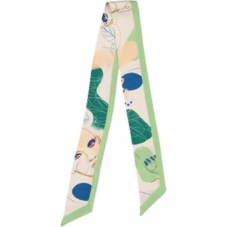 The Pathline Pistachio Green Artist Printed Headscarf