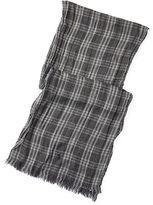 Polo Ralph Lauren Checked Wool-Linen Scarf