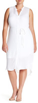 BB Dakota Sleeveless Hi-Lo Shirt Dress (Plus Size)