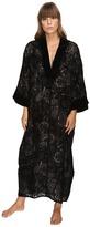 Oscar de la Renta Velvet Devore Caftan Women's Pajama