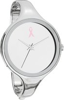 MC M&c Women's | Pink Ribbon Large Face & Thin Band -Tone Bangle Watch | DA0007