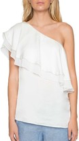 Willow & Clay Women's One-Shoulder Ruffle Top