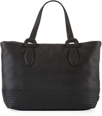 Cole Haan Bethany Small Woven Leather Tote Bag