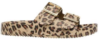 Steve Madden Evanne Leopard Flat Sandal