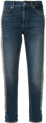 Escada Mid Rise Cropped Jeans