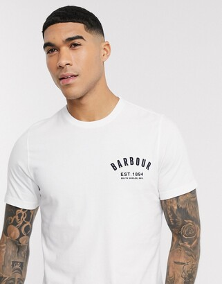 Barbour preppy t-shirt in white