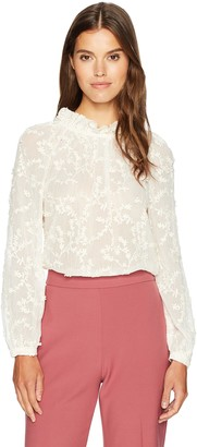 Rebecca Taylor Women's Longsleeve Ellie Embroidered Top