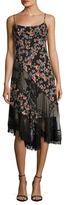ABS by Allen Schwartz Pleated Floral Print And Lace Slip Dress