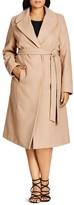 City Chic Longline Wrap Coat