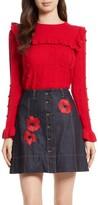 Kate Spade Women's Ruffle Yoke Sweater