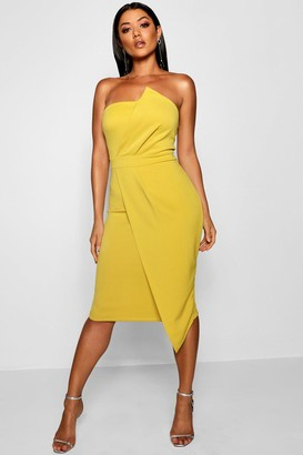 boohoo Zoey Bandeau Wrap Detail Midi Dress
