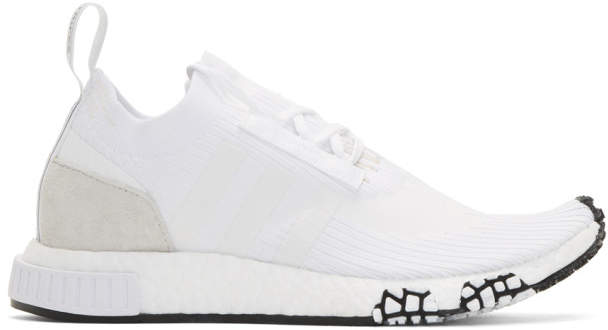 adidas White NMD-Racer PK Sneakers