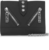Kenzo Black Gommato Leather Kalifornia Wallet w/Chain Strap