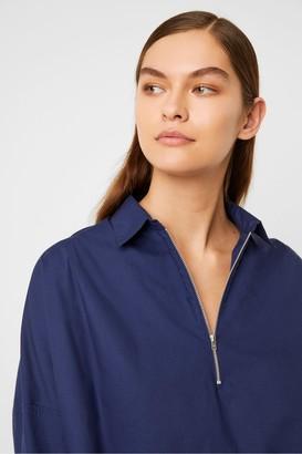 French Connection Ava Rhodes Poplin Zip Detail Shirt