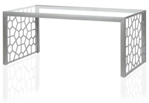 CosmoLiving Juliette Glass Top Coffee Table