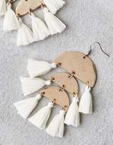 American Eagle Outfitters AE WHITE 3-TIER TASSEL EARRING